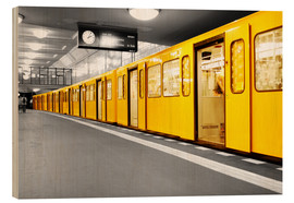 Wood print  Berlin Subway U Bahn - bildpics