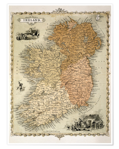 Premium poster Ireland around 1850