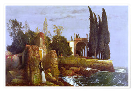 Poster  Villa by the Sea - Arnold Böcklin