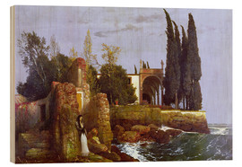 Wood print  Villa by the Sea - Arnold Böcklin
