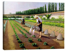Canvas print  The Gardeners - Gustave Caillebotte