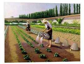 Foam board print  The Gardeners - Gustave Caillebotte