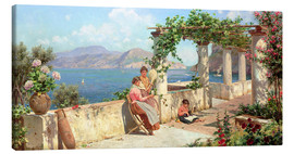 Canvas print  People on a terrace on Capri - Robert Alott