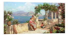 Foam board print  People on a terrace on Capri - Robert Alott
