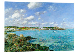 Acrylic print  The Bay of Douarnenez - Eugène Boudin