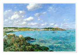 Premium poster  The Bay of Douarnenez - Eugène Boudin