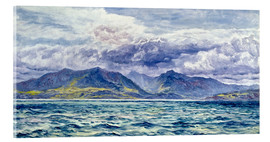 Acrylic print  Isle of Arran, 7th August 1883 - John Brett