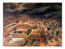 Premium poster The eruption of Vesuvius in Pompeii, 79 BC.