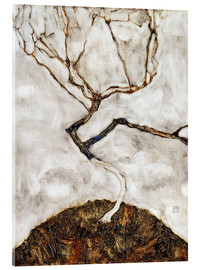 Acrylic print  Small Tree in Late Autumn - Egon Schiele