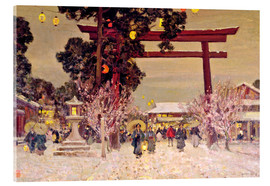 Acrylic glass  View of a Shinto Shrine, c.1889 - Sir Alfred East