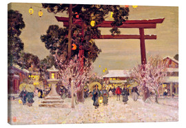 Canvas  View of a Shinto Shrine, c.1889 - Sir Alfred East