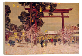 Wood  View of a Shinto Shrine, c.1889 - Sir Alfred East