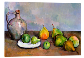 Acrylic glass  Pitcher and Fruit - Paul Cézanne