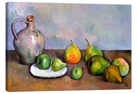 Canvas print  Pitcher and Fruit - Paul Cézanne