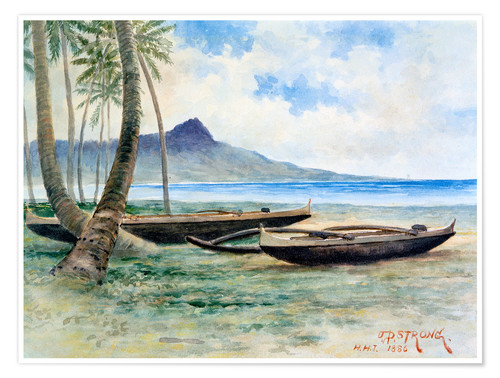 Premium poster Diamond Head, Hawaii, 1886
