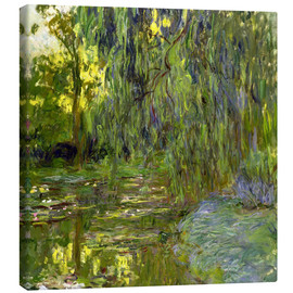 Canvas  Weeping Willow, The lily pond in Giverny - Claude Monet