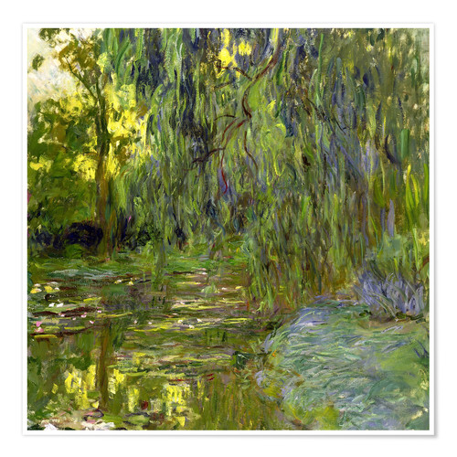 Premium poster Weeping Willow, The lily pond in Giverny
