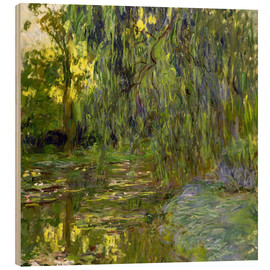 Wood  Weeping Willow, The lily pond in Giverny - Claude Monet