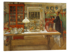Acrylic print  Getting Ready for a Game - Carl Larsson