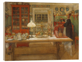 Wood print  Getting Ready for a Game - Carl Larsson