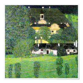 Premium poster  Kammer Castle on Lake Attersee II - Gustav Klimt
