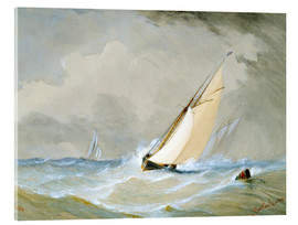 Acrylic print  The Miranda comes in strong wind - Barlow Moore