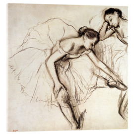 Acrylic glass  Two dancers resting - Edgar Degas