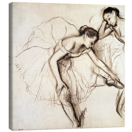 Canvas  Two Dancers Resting - Edgar Degas