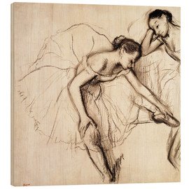 Wood  Two Dancers Resting - Edgar Degas