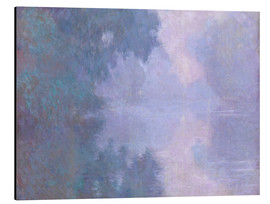 Aluminium print  A Morning on the Seine at Giverny - Claude Monet