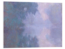Foam board print  A Morning on the Seine at Giverny - Claude Monet