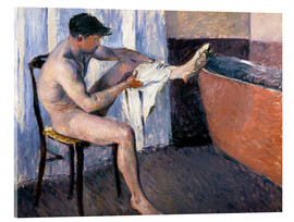 Acrylic glass  Man drying his leg - Gustave Caillebotte