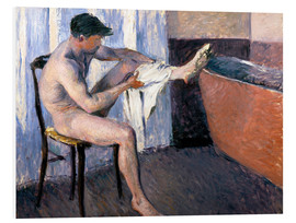 Foam board print  Man drying his leg - Gustave Caillebotte