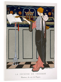 Acrylic glass  The Theorbo Player, 1920s - Georges Barbier