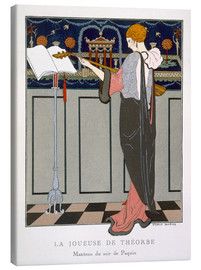 Canvas print  The Theorbo Player, 1920s - Georges Barbier
