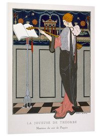 Foam board print  The Theorbo Player, 1920s - Georges Barbier