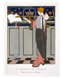 Premium poster The Theorbo Player, 1920s