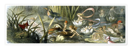 Premium poster  Water-Lilies and Water Fairies - Richard Doyle