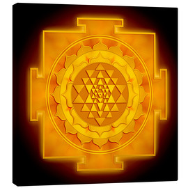 Canvas print  Golden Sri Yantra - Dirk Czarnota