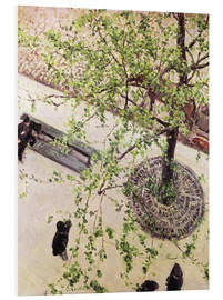 Foam board print  Boulevard from above - Gustave Caillebotte