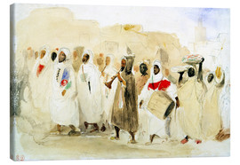 Canvas print  Procession of Musicians in Tangier - Eugene Delacroix