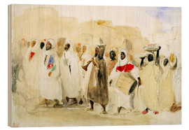 Wood print  Procession of Musicians in Tangier - Eugene Delacroix
