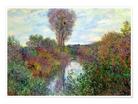 Premium poster  Small Arm of the Seine - Claude Monet
