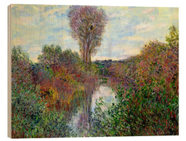 Wood print  Small Arm of the Seine - Claude Monet