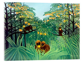 Acrylic glass  Monkey in the jungle - Henri Rousseau
