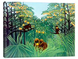 Canvas print  Monkey in the jungle - Henri Rousseau