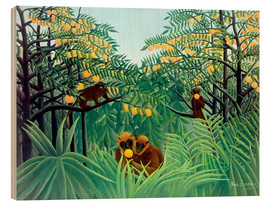 Wood  Monkey in the jungle - Henri Rousseau