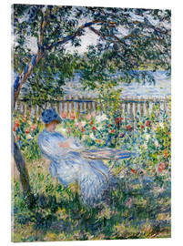 Acrylic print  La Terrasse (The Terrace) - Claude Monet