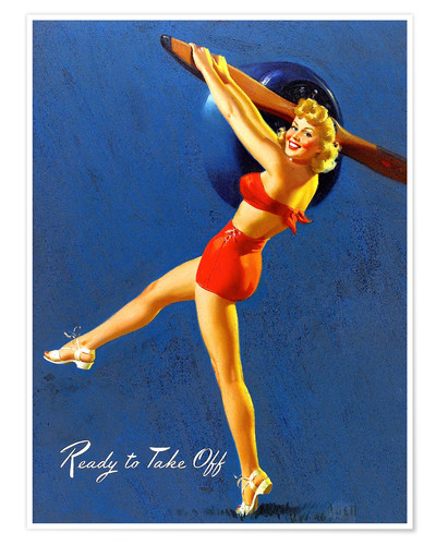 Premium poster Pin Up - Ready to Take Off