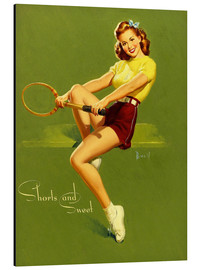 Aluminium print  Pin Up - Shorts and Sweet - Al Buell